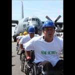 جابجایی هواپیمای 67 تنی توسط معلولان