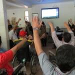برگزاری کارگاه آموزشی  فوائد ورزش در افراد آسیب نخاعی  و پیشگیری از زخم بستر