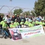 برگزاری مسابقه ویلچررانی در بندرعباس
