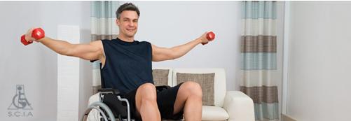 مراقبتها هنگام اجرای حرکات ورزشی روی ویلچر