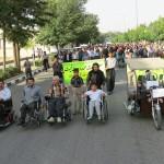 برگزاری همایش پیاده روی معلولان در شیراز